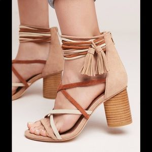 Jeffrey Campbell Despina Leather Suede Sandals 8